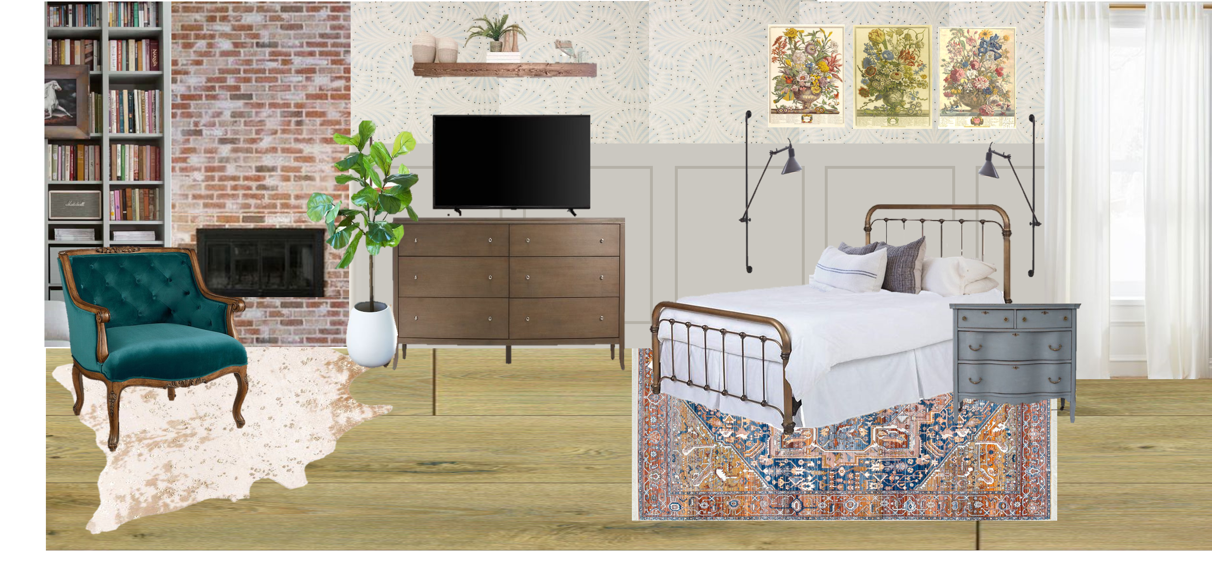 One Room Challenge Week Two – the Master Bedroom Plan