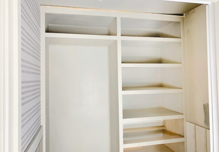 One Room Challenge Week Four – Adding DIY Custom Shelving